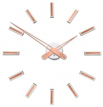 Designer self-adhesive wall clock Future Time FT9600CO Modular copper 60cm