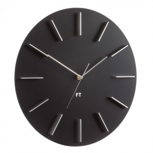 Wall Clock Future Time FT2010BK Round black 40cm