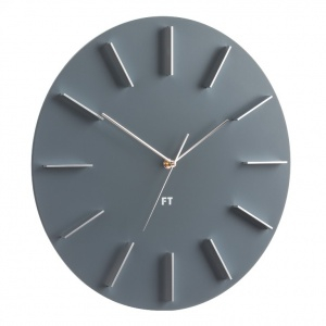 Wall Clock Future Time FT2010GY Round grey 40cm