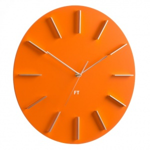 Wall Clock Future Time FT2010OR Round orange 40cm
