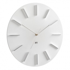 Wall Clock Future Time FT2010WH Round white 40cm