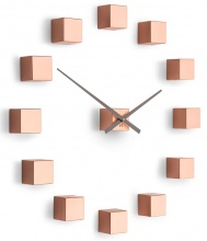 Designer self-adhesive wall clock Future Time FT3000CO Cubic copper