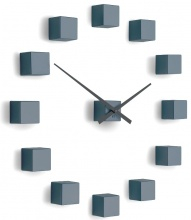Designer self-adhesive wall clock Future Time FT3000GY Cubic light grey