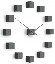 Designer self-adhesive wall clock Future Time FT3000TT Cubic titanium grey