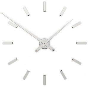 Designer self-adhesive wall clock Future Time FT9100SI Modular chrome 85cm