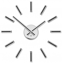 Designer self-adhesive wall clock Future Time FT9400BK Modular black 40cm
