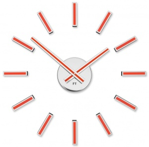 Designer self-adhesive wall clock Future Time FT9400RD Modular red 40cm