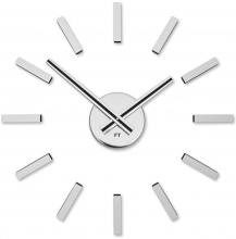 Designer self-adhesive wall clock Future Time FT9400SI Modular chrome 40cm