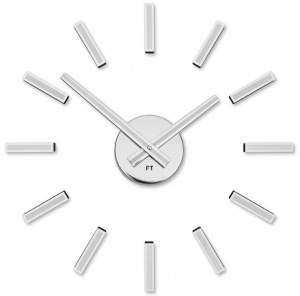 Designer self-adhesive wall clock Future Time FT9400WH Modular white 40cm