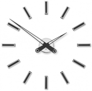 Designer self-adhesive wall clock Future Time FT9600BK Modular black 60cm
