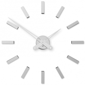 Designer self-adhesive wall clock Future Time FT9600SI Modular chrome 60cm