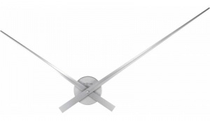 Design Wall Clock 2269zw Nextime Hands Silver 85cm