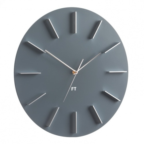Wall Clock Future Time FT2010GY Round grey 40cm Click to view the picture detail.