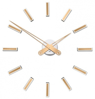 Designer self-adhesive wall clock Future Time FT9600CM Modular champagne 60cm Click to view the picture detail.